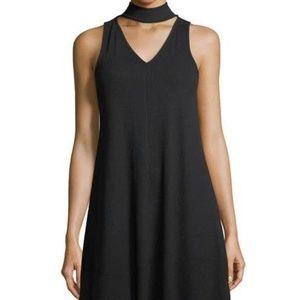 NWT! Rib Choker Black Neck Dress